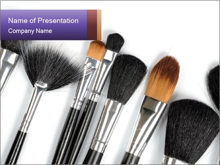 Brushes For Makeup PowerPoint Template