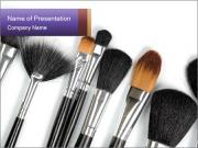 Brushes For Makeup PowerPoint Templates