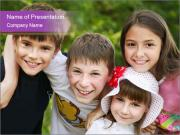 Four Children PowerPoint Templates