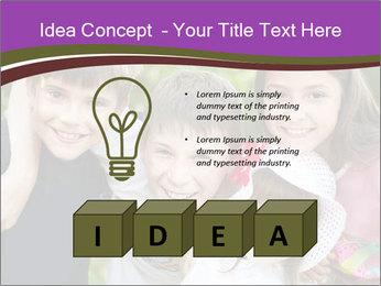 Four Children PowerPoint Template - Slide 80