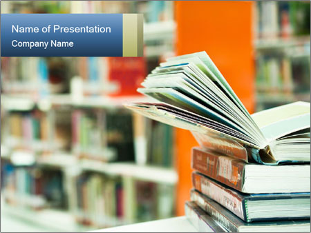 Book From Library PowerPoint Template