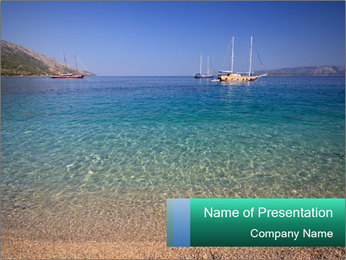 Mediterranean Beach PowerPoint Template - Slide 1