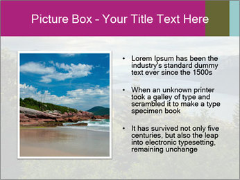 Cliffs In Columbia PowerPoint Template - Slide 13