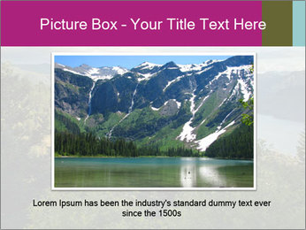 Cliffs In Columbia PowerPoint Template - Slide 16