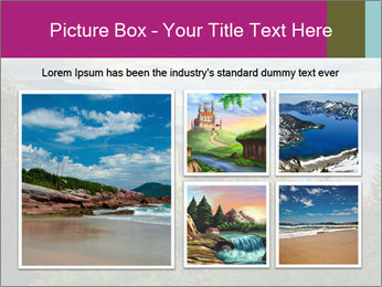 Cliffs In Columbia PowerPoint Template - Slide 19