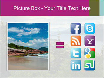 Cliffs In Columbia PowerPoint Template - Slide 21