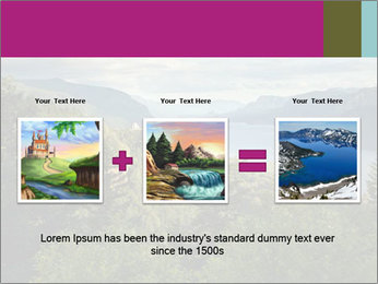 Cliffs In Columbia PowerPoint Template - Slide 22