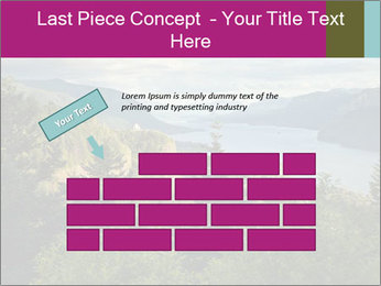 Cliffs In Columbia PowerPoint Template - Slide 46