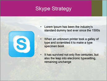 Cliffs In Columbia PowerPoint Template - Slide 8