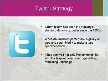 Cliffs In Columbia PowerPoint Template - Slide 9