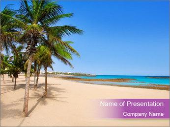 Scenic Beach PowerPoint Template - Slide 1