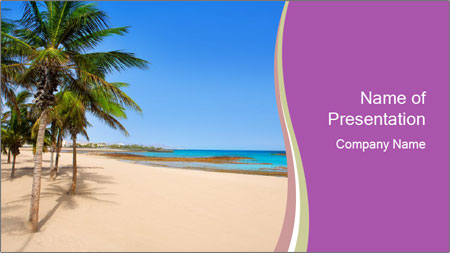 Scenic Beach PowerPoint Template