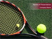 Tennis Professional Equipment PowerPoint Templates