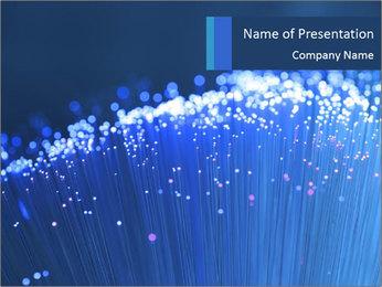 Blue Optic Modèles des présentations  PowerPoint