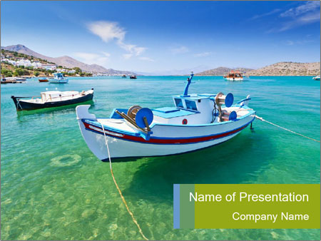 Summer On Seaside PowerPoint Template