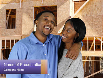 African Married Couple PowerPoint Template