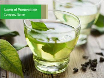 Antioxidant Herbal Tea PowerPoint Template - Slide 1