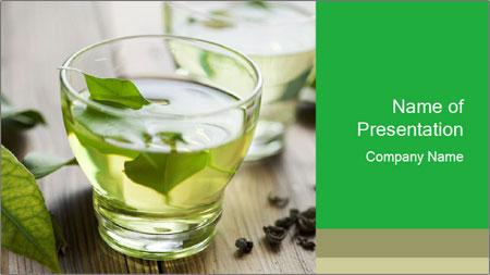 Antioxidant Herbal Tea PowerPoint Template