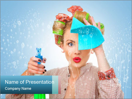 Funny Housewife PowerPoint Template