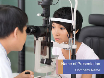 Eye Sight Check PowerPoint Template - Slide 1