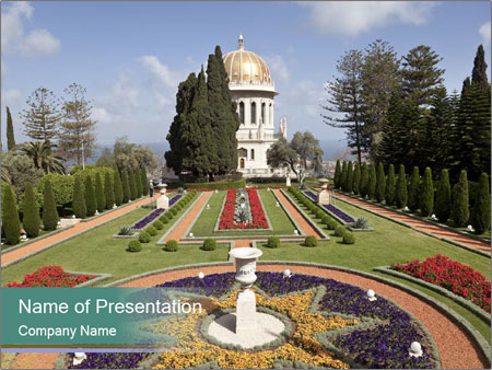 Beautiful Palace And Garden PowerPoint Template