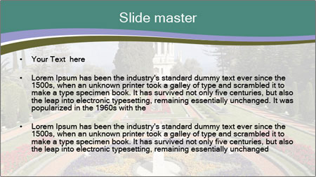 Beautiful Palace And Garden PowerPoint Template - Slide 2