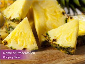 Sweet Slices Of Pineapple PowerPoint Template - Slide 1
