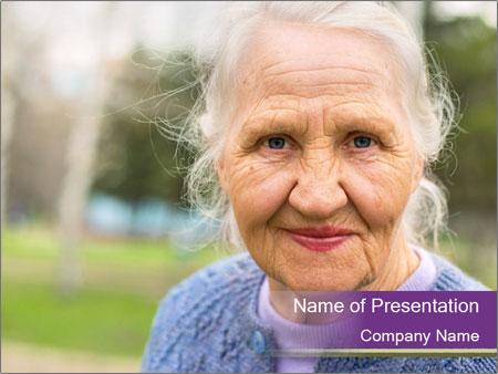 Cute Grandmama PowerPoint Template