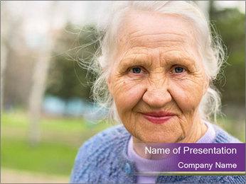 Cute Grandmama PowerPoint Template - Slide 1