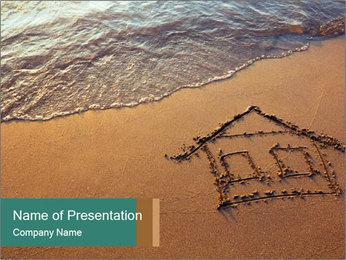 House Drawing On Sand Modelos de apresentações PowerPoint