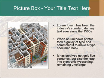 House Drawing On Sand PowerPoint Template - Slide 13