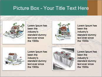 House Drawing On Sand PowerPoint Template - Slide 14