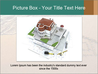 House Drawing On Sand PowerPoint Template - Slide 15