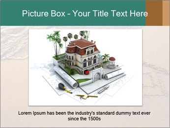 House Drawing On Sand PowerPoint Template - Slide 16
