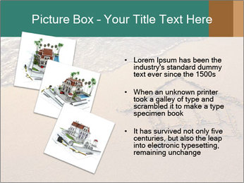 House Drawing On Sand PowerPoint Template - Slide 17
