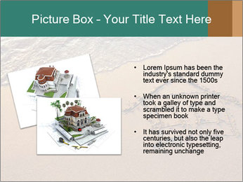 House Drawing On Sand PowerPoint Template - Slide 20