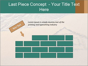 House Drawing On Sand PowerPoint Template - Slide 46