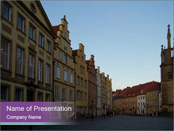 German Historical Building PowerPoint Templates - Slide 1