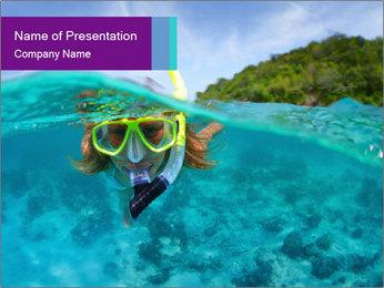 Diver In Googles PowerPoint Template - Slide 1