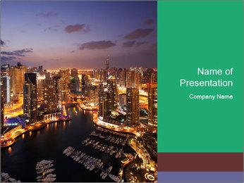 Dubai At Night Modelos de apresentações PowerPoint