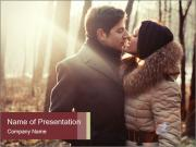 Love Couple In Forest PowerPoint Template