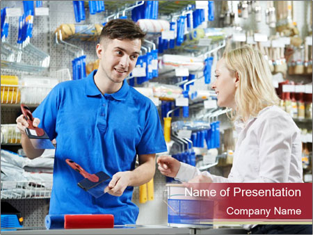 Busy Shopkeeper PowerPoint Template