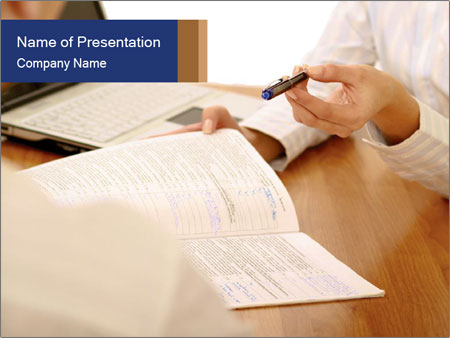 Businessman With Papers PowerPoint Templates