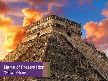 Sacred Pyramid PowerPoint Template - Slide 1