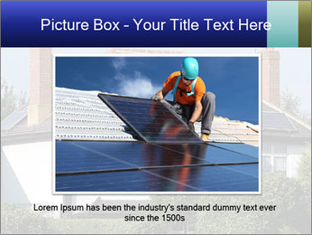 House With Solar Panel PowerPoint Template - Slide 16
