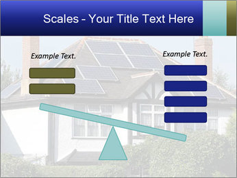 House With Solar Panel PowerPoint Template - Slide 89