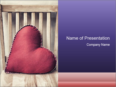 Heart-Shapes DecorativePillow PowerPoint Template