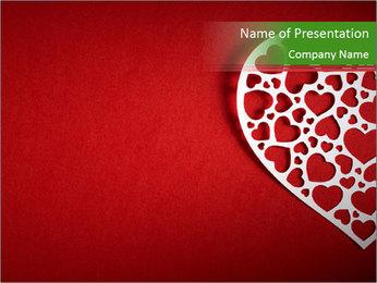 Silver Heart PowerPoint Template - Slide 1