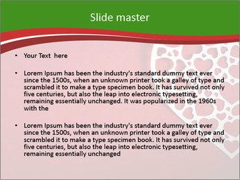 Silver Heart PowerPoint Template - Slide 2