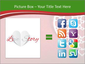 Silver Heart PowerPoint Template - Slide 21